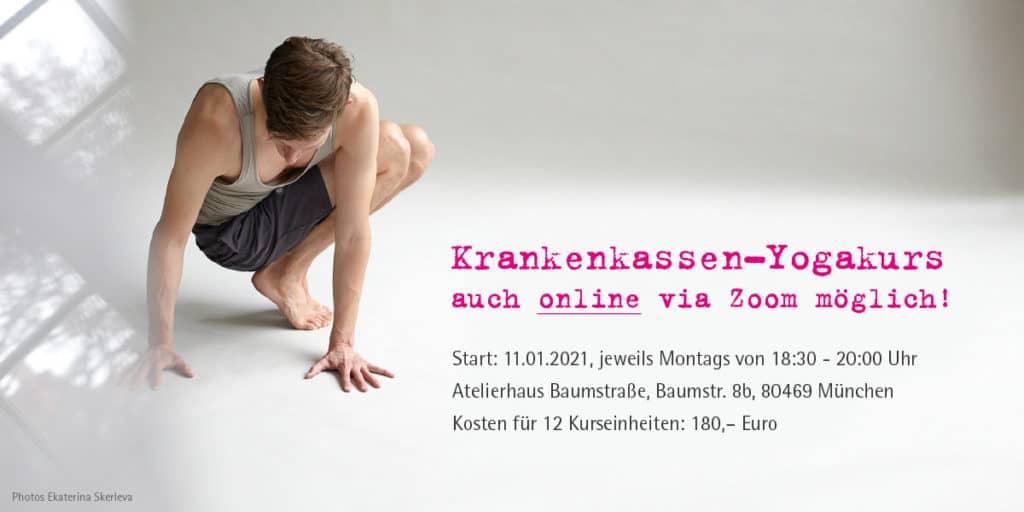 Yoga Krankenkassenkurs online in München
