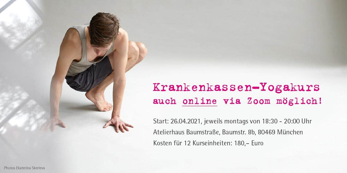 Krankenkassen-Yogakurs startet am 26.04.2021