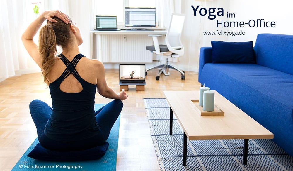 Yoga für Mitarbeiter im Home Office.